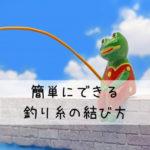 【初心者向け】誰でも簡単にできる糸の結びかた【釣り】