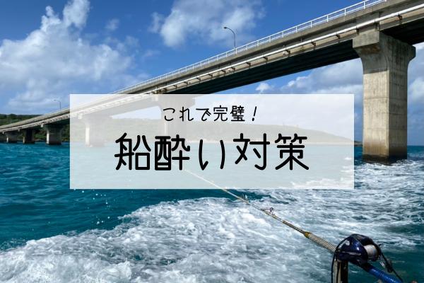 【これで完璧!】船酔い対策|釣りやダイビングで実践